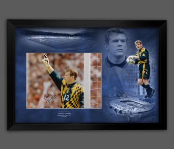 Andy Goram Signed And Framed 12x16 Scotland Football  Photograph  In A Picture Mount Display