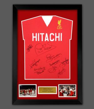 Liverpool 1977  Football Shirt  In A Framed Presentation. Signed By 10 Players : Star deal