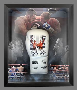 Carl Froch And George Groves Dual Signed Custom Made Boxing Glove In A Dome Frame: A : Star Deal