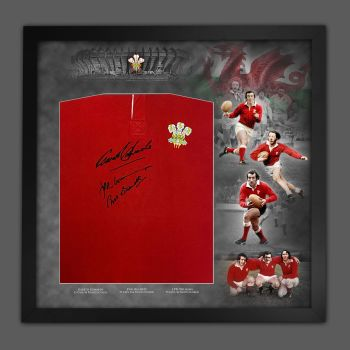 Wales Rugby Legends Phil Bennett, Gareth Edwards And JPR Williams  Hand Signed Shirt  In A Picture Mount Display : Star Deal