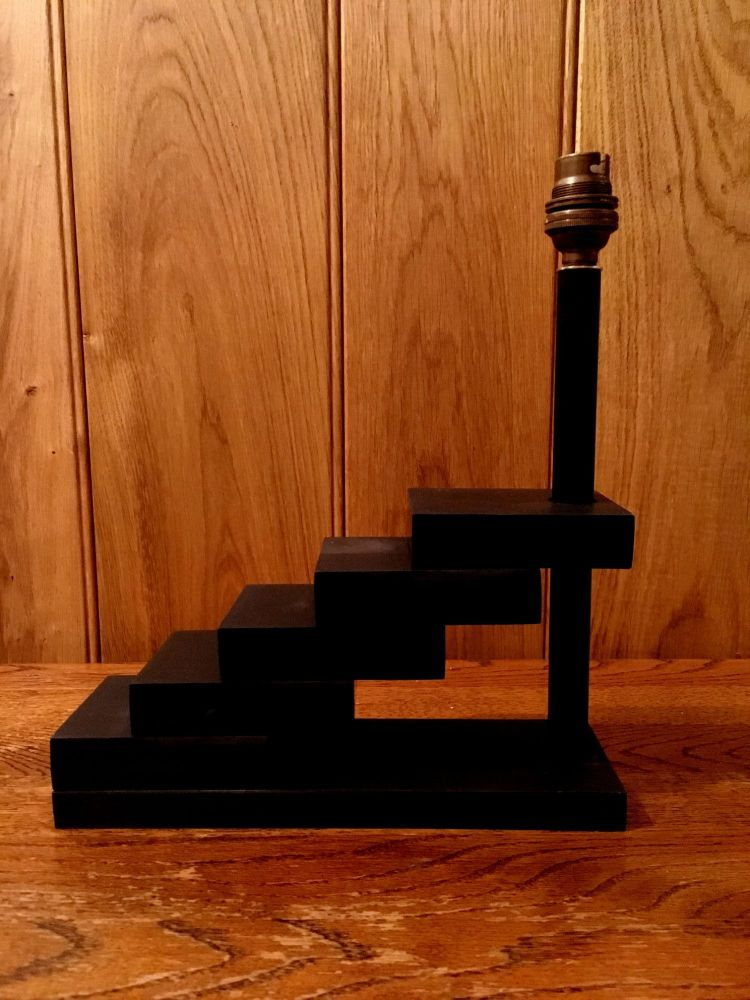 Black Welsh Slate 'Ladder' Lamp