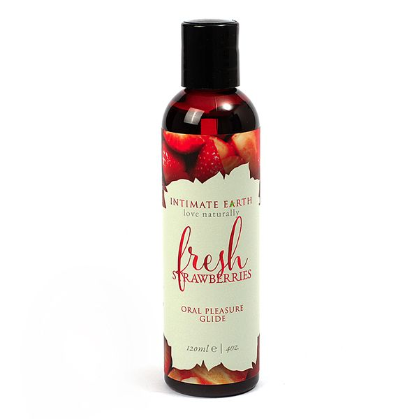 Intimate Earth Flavoured Lube - Fresh Strawberries 120ml