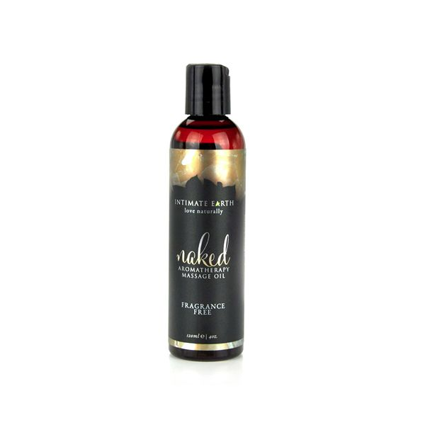Intimate Earth Naked Aromatherapy Massage Oil - Unscented 120ml