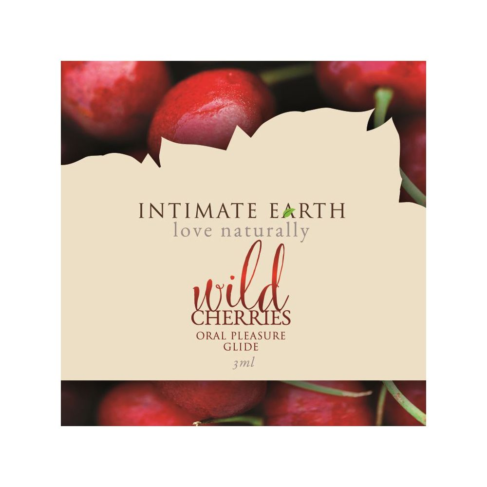 Intimate Earth Flavoured Lube - Wild Cherries 3ml Foil