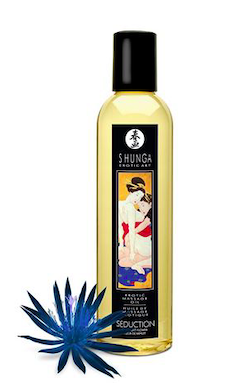 Shunga Massage Oil Midnight Flower (Seduction)