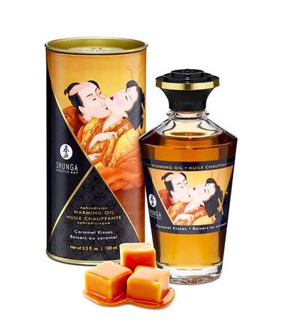 Shunga Warming Aphro Oil - Caramel