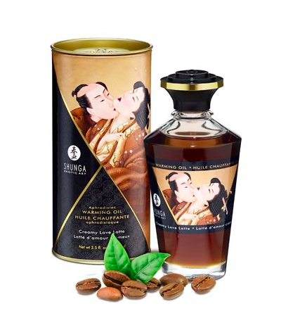Shunga Warming Aphro Oil - LATTE D'AMOUR (Creamy Love Latte)