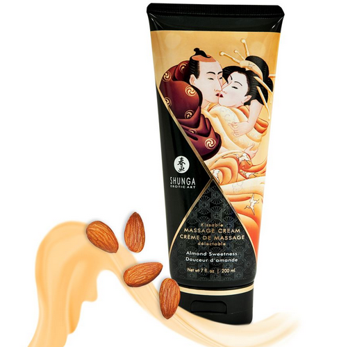 Shunga Kissable Massage Creams 200ml/7fl.oz - Almond Sweetness