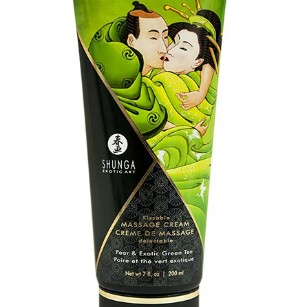Shunga Kissable Massage Creams 200ml/7fl.oz - Pear & Exotic Green Tea
