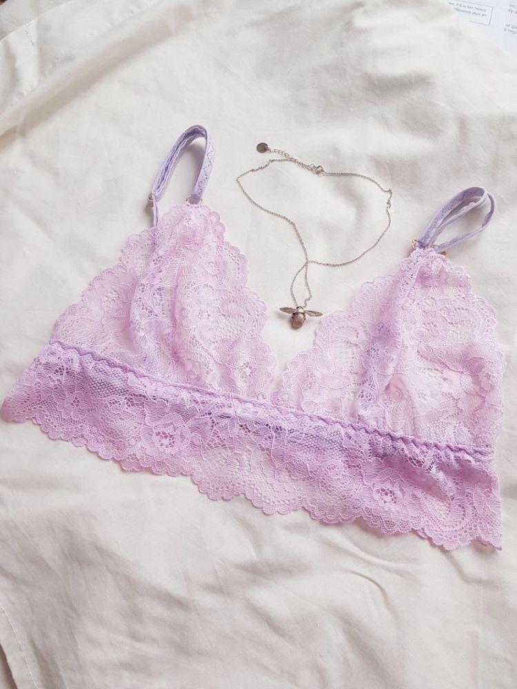Odette Lilac Floral Lace Bralette