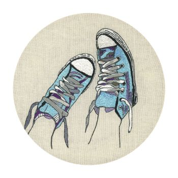 Converse Baseball Boots Fine Art Greetings Card, Printed on 350gsm Silk White Card, FSC Certified. 6in x 6in