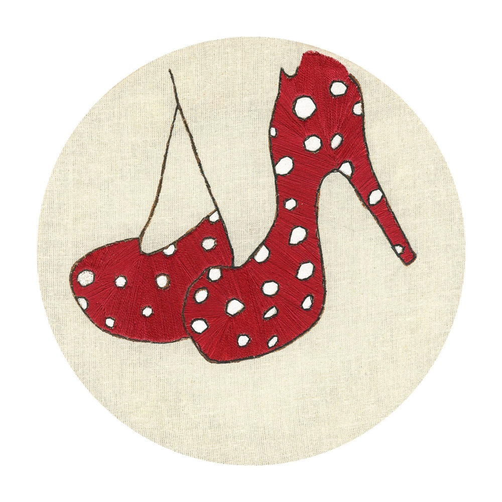 Fine Art Red Shoes Blank Card