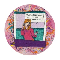 Your Approval Of Me Is Not Required Fine Art Greetings Card, Printed on 350gsm Silk White Card, FSC Certified. 6in x 6in