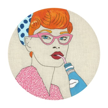 Pink Glasses Signed Limited Edition Fine Art Giclée Print, 10in x 10in £30.00, 16in x 16in £60.00