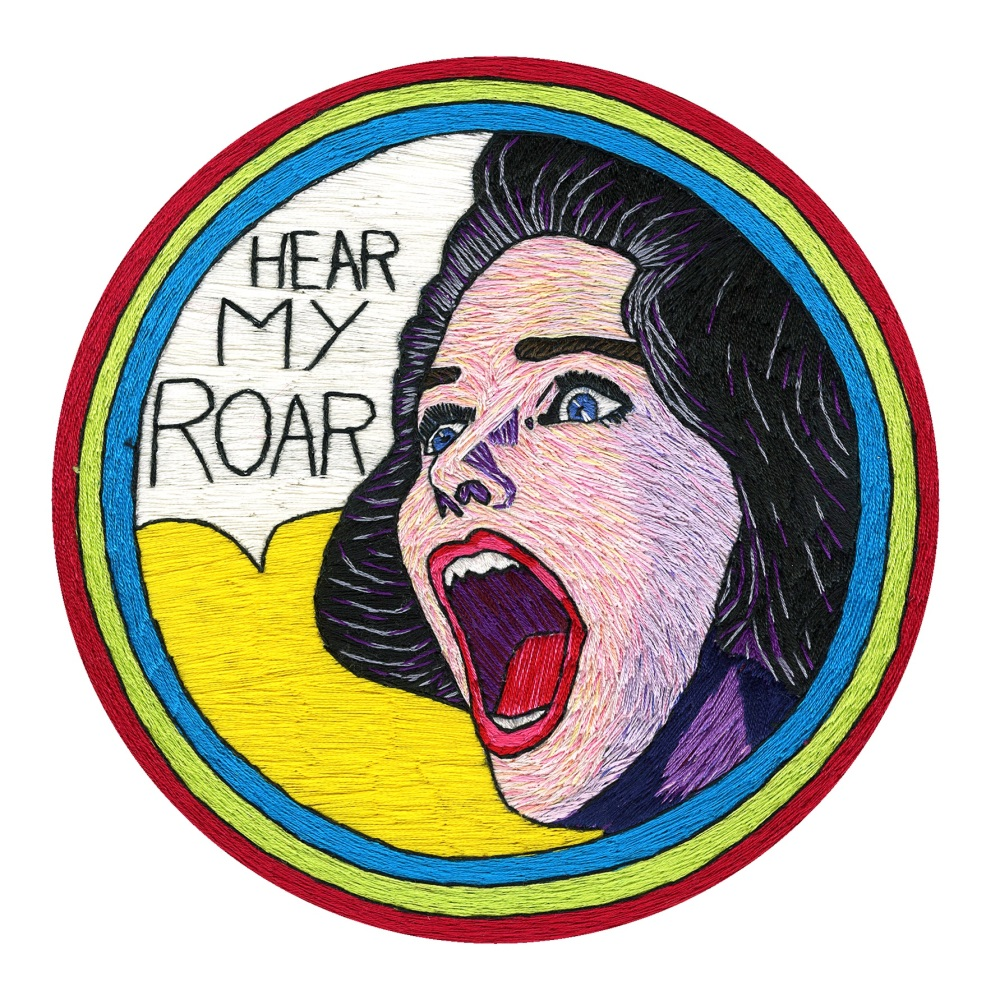 Hear My Roar Fine Art Greetings Card, Printed on 350gsm Silk White Card, FS