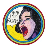 Hear My Roar Fine Art Greetings Card, Printed on 350gsm Silk White Card, FSC Certified. 6in x 6in
