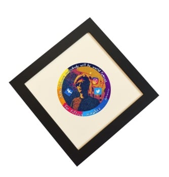 Andy Warhol Original Hand Embroidered Work