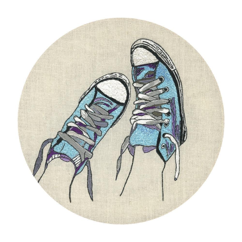 Baseball Boots Original Hand Embroidery