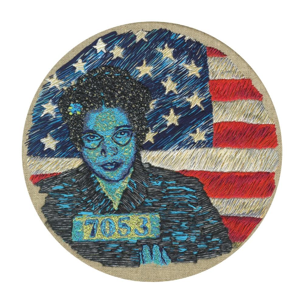 Rosa Parks Original Hand Embroidery