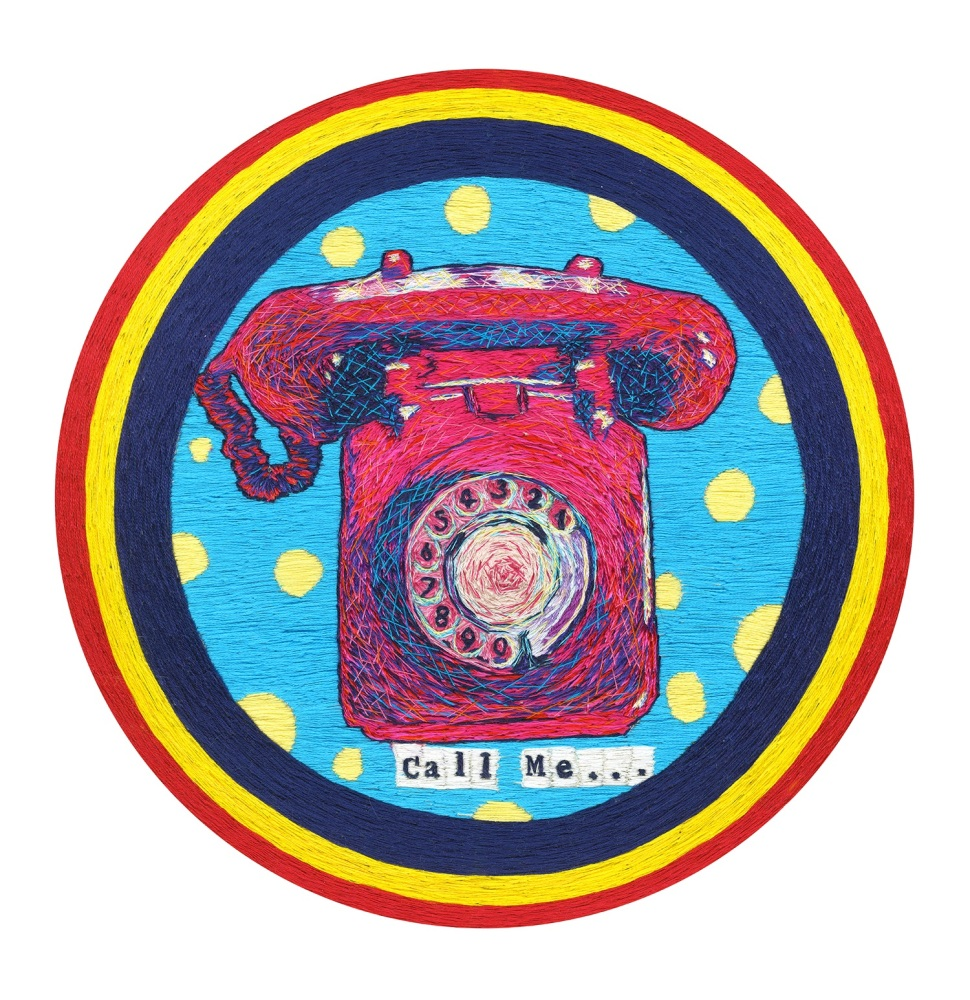 Call Me , Signed Limited Edition Fine Art Giclée Print, 10in x 10in £25.00,