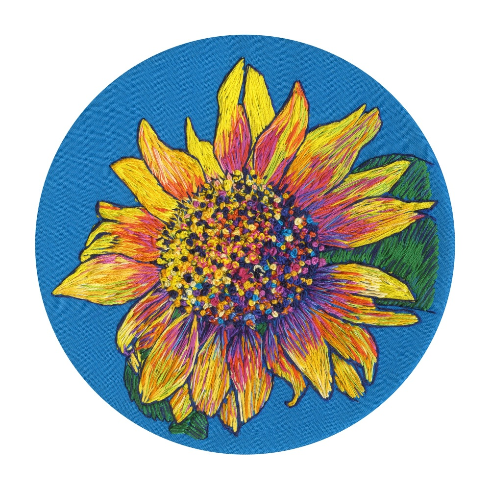 Sunflower Fine Art Greetings Card, Printed on 350gsm Silk White Card, FSC C