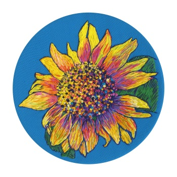 Sunflower Fine Art Greetings Card, Printed on 350gsm Silk White Card, FSC Certified. 6in x 6in
