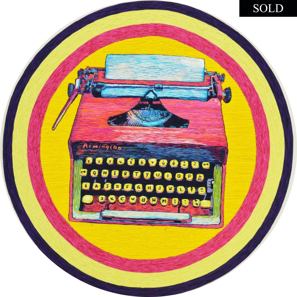 Note To Self Hand Embroidered Remington Typewriter SOLD