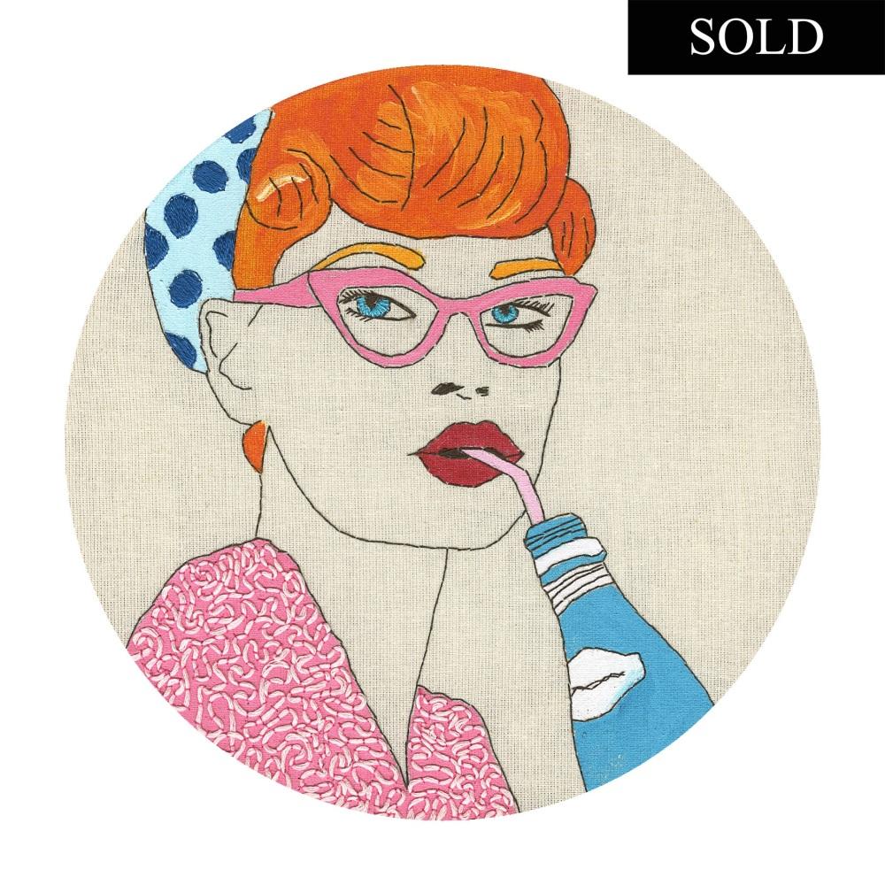 Pink Glasses SOLD