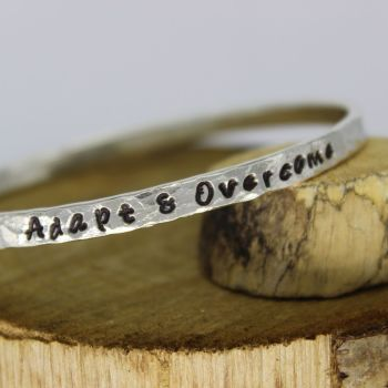 Hammered Message Bangle