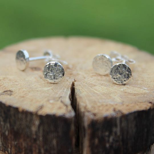 Hammered Circle Stud (5mm)