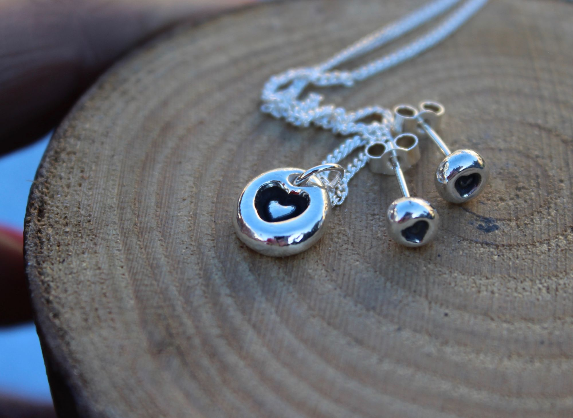 Bubble Necklace with Heart
