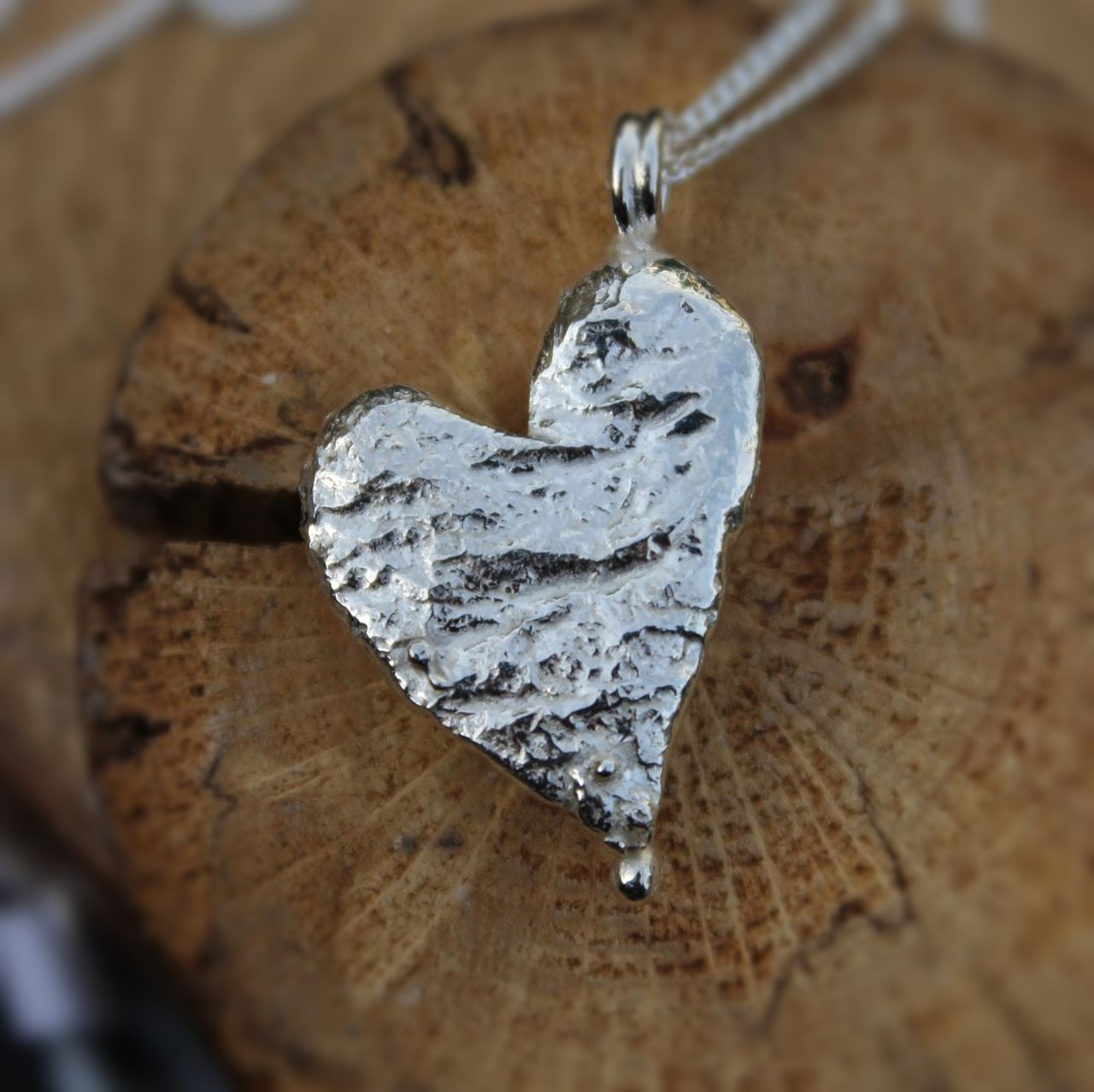 Recycled Heart Pendant