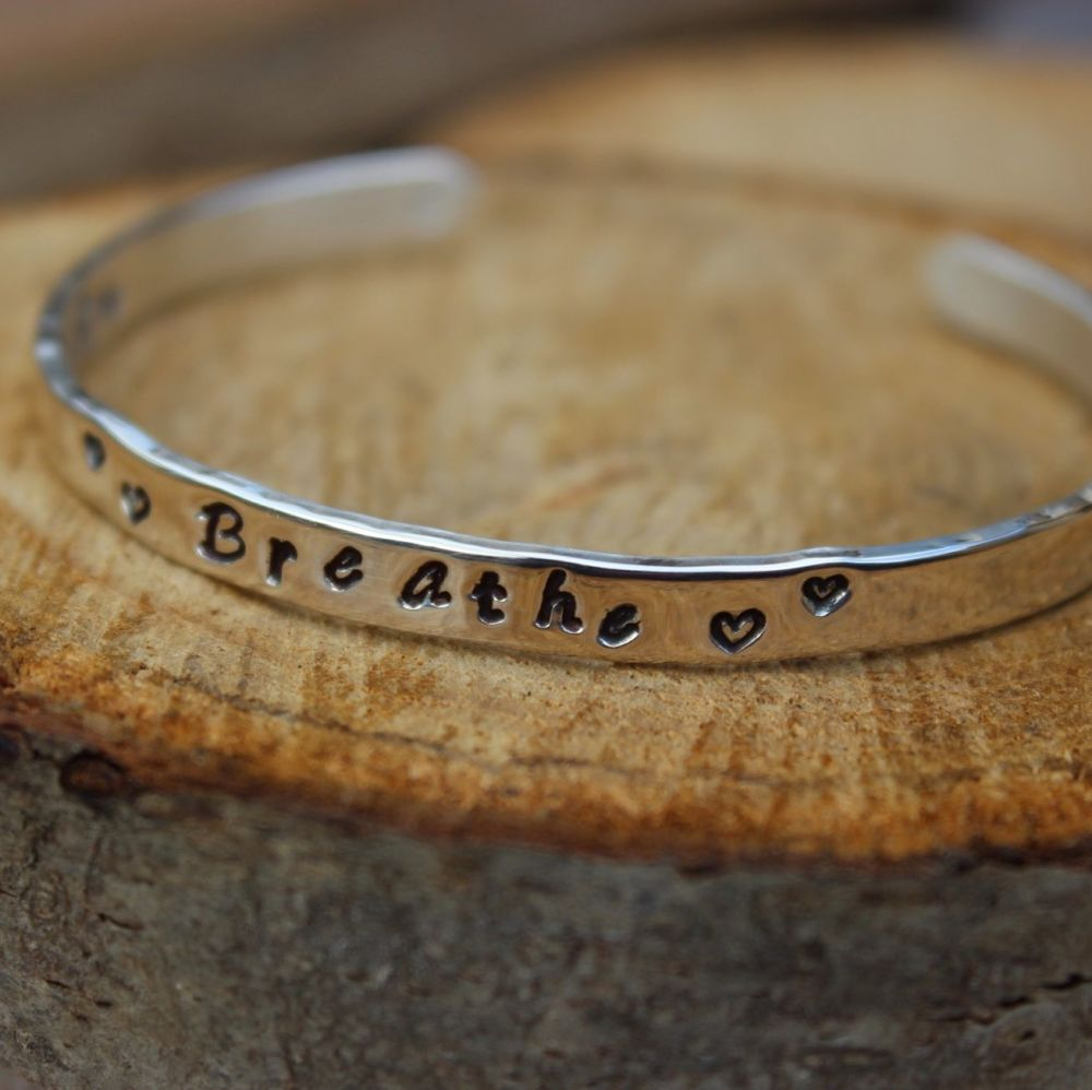 Believe Bangle - Hand-stamped on Both Sides