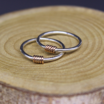 Coil Ring - rose gold