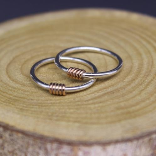 Coil Ring - rose gold