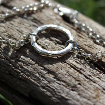 Hammered Circle Bracelet