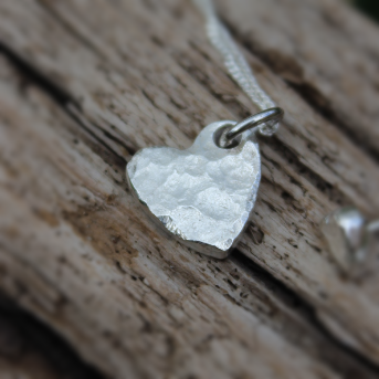 Hammered Heart Necklace (small)