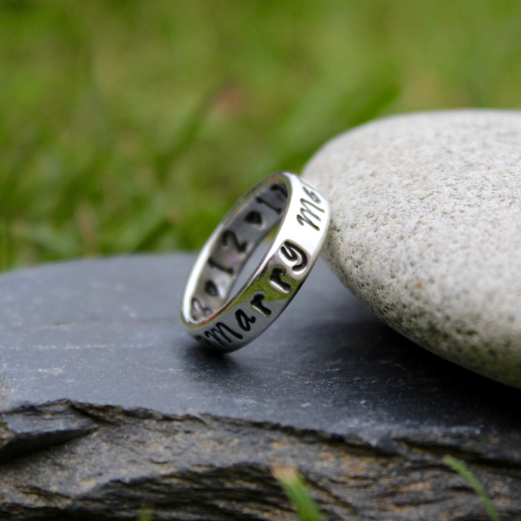 Personalised Silver Ring