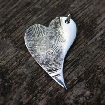 Fingerprint Heart Pendant (large)