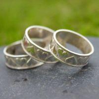 Heart Embossed Ring