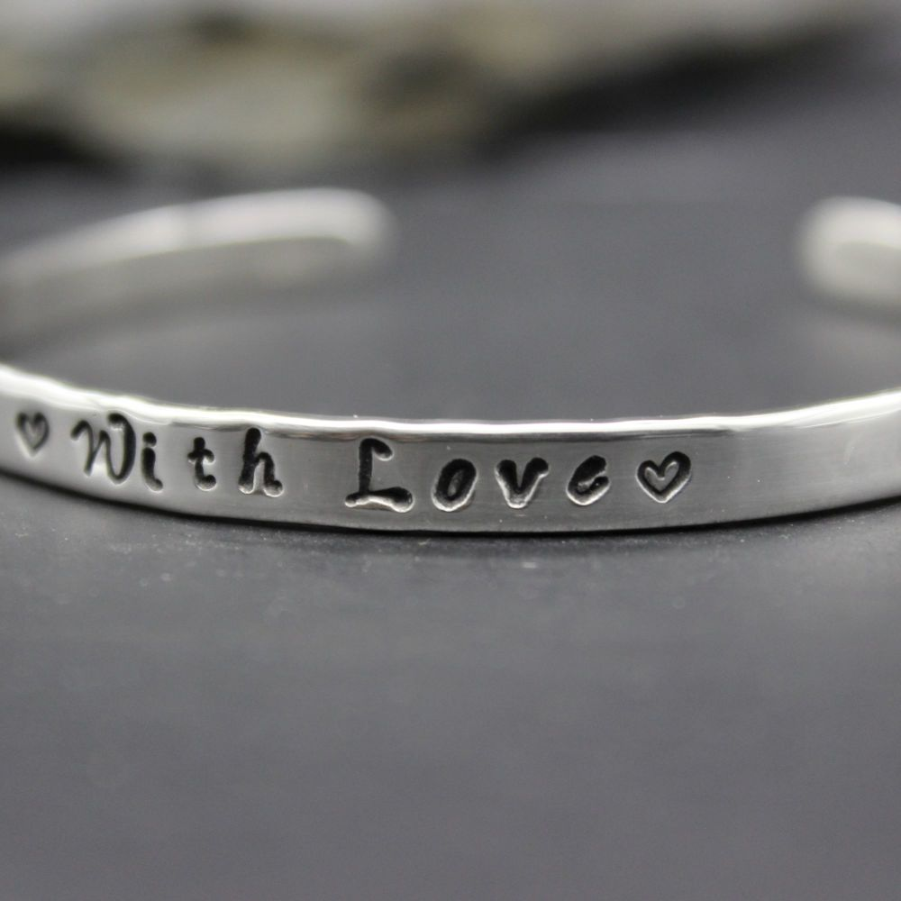 Believe Bangles - hand stamped on both sides