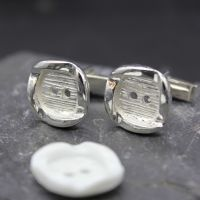 Button Cufflinks (created from a client's own button)