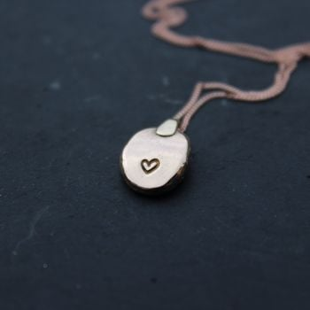 Baby Gold Nugget, with heart stamp