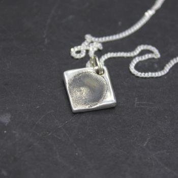 Fingerprint Square Necklace (small)