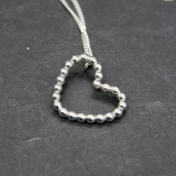 Bubble Wire Heart Necklace