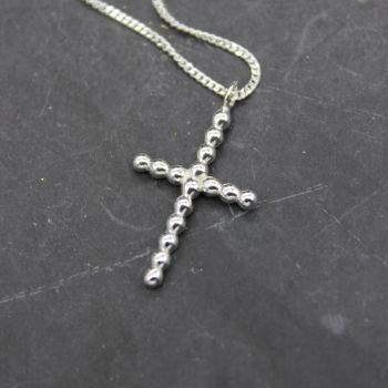 Bubble Wire Cross Necklace
