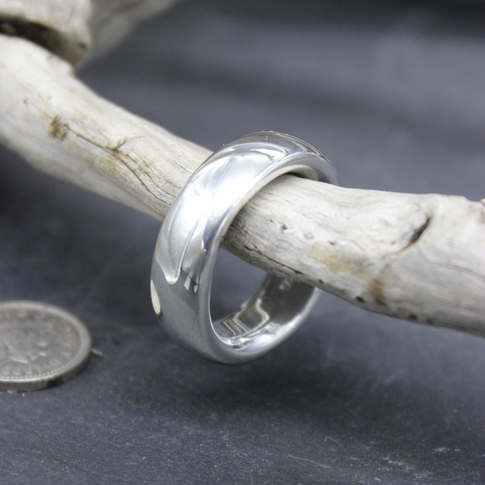 Heavyweight Silver Polished Ring