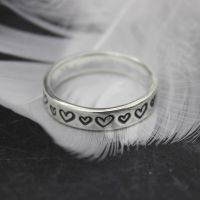 Heart Stamped Ring