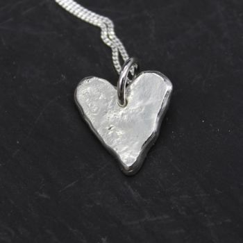 Heart Necklace with Ripple Effect