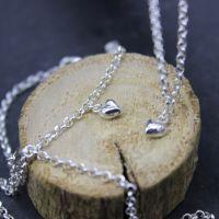 Puffed Heart Charm Bracelet
